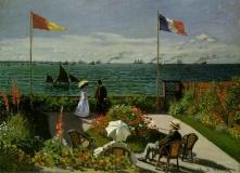 1_MONET-Claude-1867-Garden-at-Sainte-Adresse